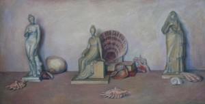 """Натюрморт с морскими ракушками"" Х.М. 45Х90 1999 год"
