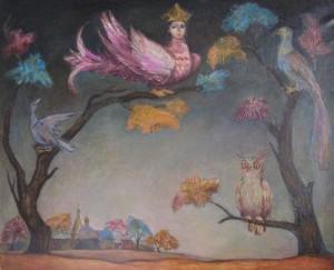"""""""Ночные птицы"""" Х.М. 90Х110 1990 год"""
