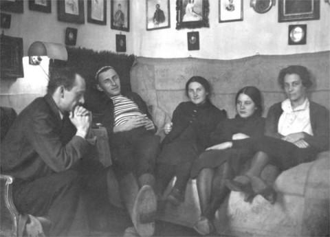Дмитров, 1928 год. Е.М. Перцова в центре
