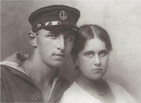 Владимир Михайлович Голицын с женой Еленой Петровной Голицыной (Шереметевой)