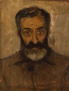 Этот портрет написан моим отцом за 2 часа (время свидания) в концлагере, где находился Андрей Васильевич (1947 г.).