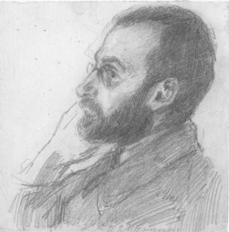 Пётр Владимирович Истомин (рисунок М.М.Осоргиной, 1922 год)