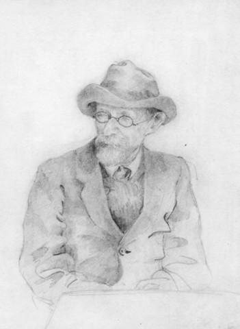Павел Борисович Мансуров (рисунок М.М.Осоргиной, 1923 год)