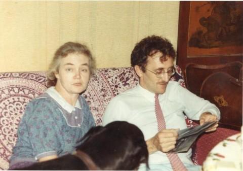 Жерар и Е.В.Тутунова в квартире на Верхней Масловке (середина 1980 г.г.)
