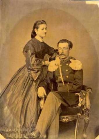 Мой прадед П. А. Грёссер с женой-итальянкой.