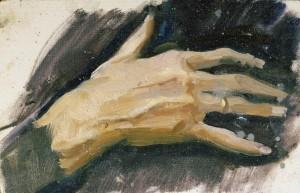 """Этюд к картине """"Мать"""" 1960 г.г. К.М. 15/24"""