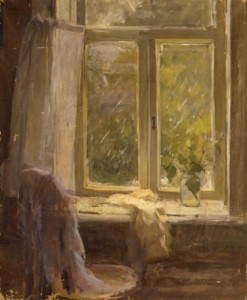 "Этюд к картине ""У окна"" Конец 1950 г.г. Х.М. 60Х75"