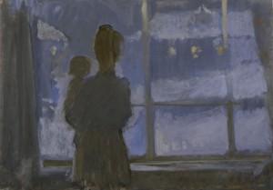 """""""Вечер"""" 1970 г.г. К.Темпера. 68Х47"""