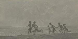 """""""Бегущие дети"""". Этюд к картине """"Небо.Море. Дети"""" конец 1960 - начало 1970 г.г."""