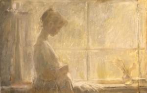 """""""У окна"""" (вариант 1)  1970 г.г. Х.К.Пастель 102Х65"""