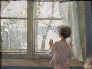 """""""Зима пришла. Детство"""" 1960 г. Х.М. 88Х117. Государственная Третьяковская галерея."""