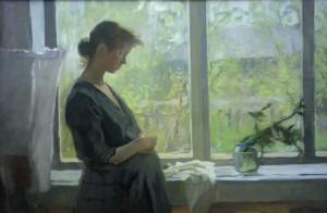 """""""Материнство"""" 1961 год, Темпера по холсту. Пензенская картинная галерея. Фото Т.Василенко"""