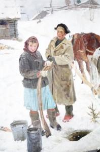 """""""По воду"""" (вариант). 1950 г.г."""
