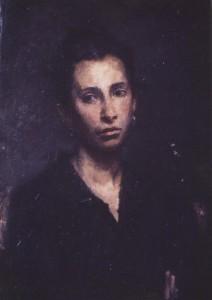 """Портрет Анны Шильниковой""  1986 г. Х.М.  50Х35"