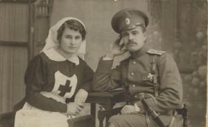 Елизавета Николаевна  и Михаил Николаевич Сахаровы. Первая мировая война.