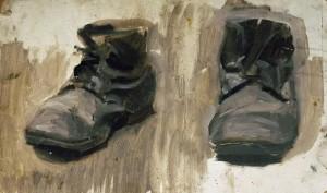 """""""Ботинки. Этюд"""" 1950 г.г. К.М."""