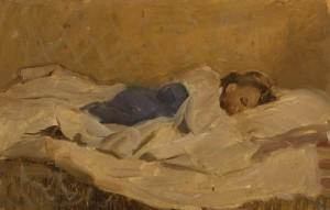"""""""Витька спит""""  1962 г. К.М. 42Х35"""