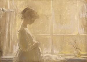 """""""У окна"""" 1970 г.г. Х.К.Пастель 77Х56"""