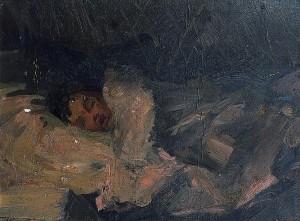 """""""Спящий мальчик""""  Конец 1950 г.г."""
