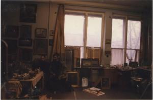 С.А. с сыном Сергеем. (мастерская 1997 год)