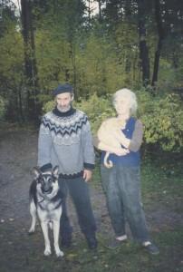 С А и Е В Тутуновы (осень 1997 года)