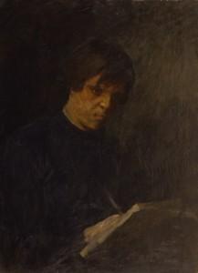 """""""Студент Миша"""" (Портрет М.А.Трубецкого)  начало 1980-х г.г. Х.М.  72Х55"""