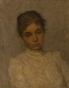 """""""Портрет жены художника""""  1984 г. Х.М. 50Х35"""