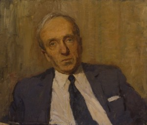 """Портрет Н.К.Розеншильда"" 1970 г.г. К.М. 48Х55"