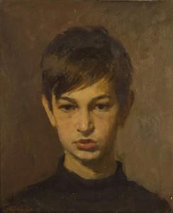 «Портрет сына» (Сергей Тутунов) 1971 г.  К.М. 50Х40