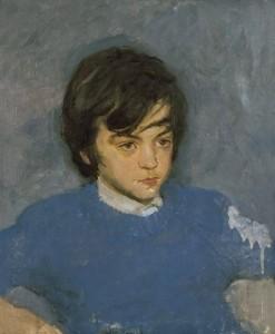 """Портрет сына"" (Виктор Тутунов) 1974 г. Х.М. 55Х45"